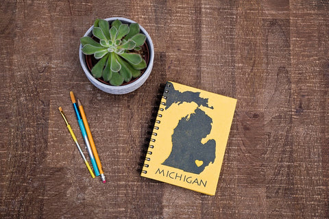 Maize & Blue Michigan Notebook