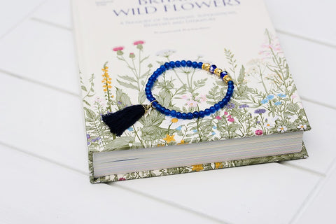 Midnight Blue Tassel Bracelet