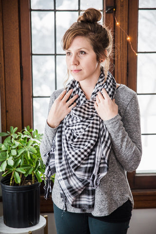 Gingham Scarf for Women - Accessories - WAR Chest Boutique