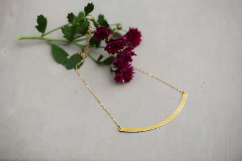 Mia Brass Necklace