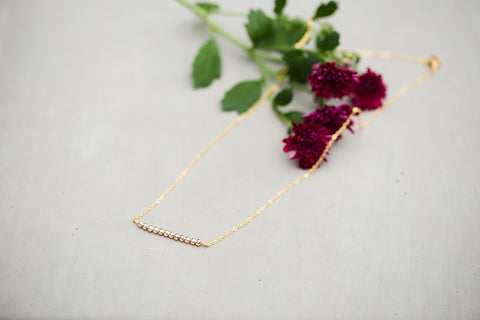 Rosalie Gold Bar Necklace