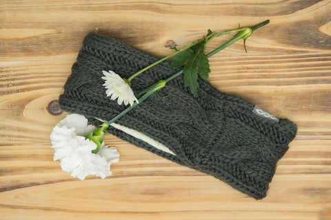 Charcoal Braid Winter Headband