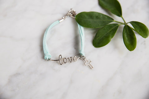 Cross of Love Suede Bracelet