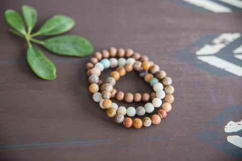 Amazonite & Jasper Stacked Bracelet Set