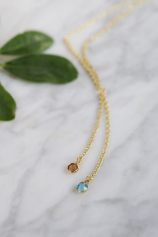 Blue Opal and Topaz Crystal Pendant Necklace