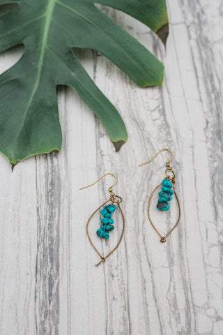 Turquoise Michelle Earrings