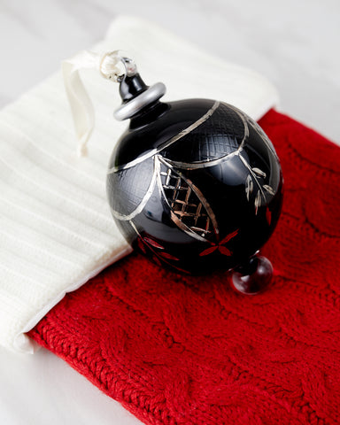 Black and Silver Ball Ornament