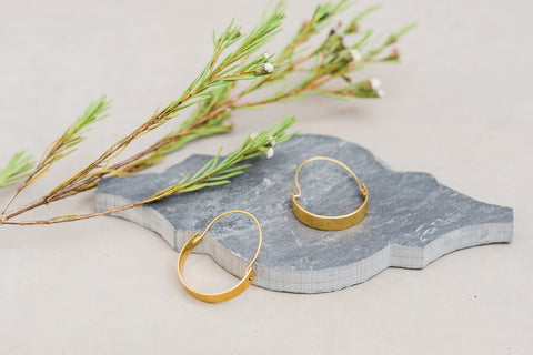 Magnolia Hoop Earrings for Women - Jewelry - WAR Chest Boutique