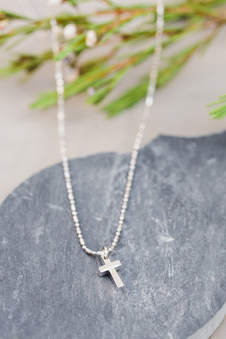 Children's Geo Cross Necklace
