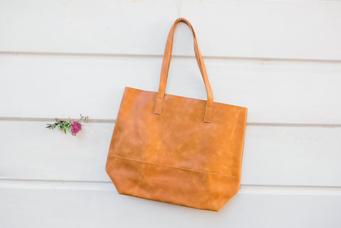 Cognac Mamuye Classic Tote for Women - Handbags - WAR Chest Boutique