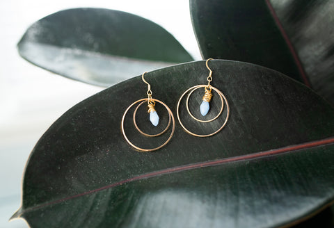 Crystal Orbit Earrings for Women - Jewelry - WAR Chest Boutique