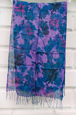 Purple Dragonfly Scarf