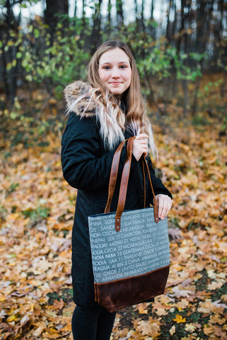 Grey WAR Remembrance Tote for Women - Handbags - WAR Chest Boutique
