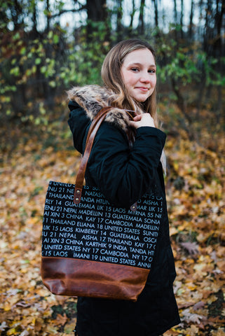 Black WAR Remembrance Tote for Women - Handbags - WAR Chest Boutique