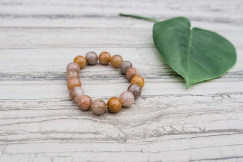 Neutral Shades Agate Bracelet