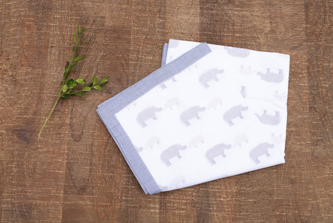 Navy Rhino Baby Blanket - Children's Collection - WAR Chest Boutique