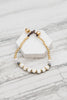 White Howlite Stacking Bracele