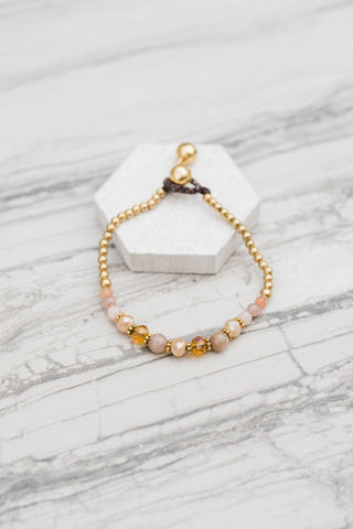 Blush Crystal Stack Bracelet