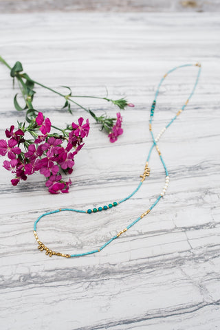Turquoise Stacking Necklace