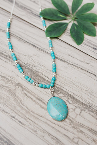 Radiant Turquoise Necklace for Women - Jewelry - WAR Chest Boutique