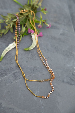 Sand Dune Beaded Necklace
