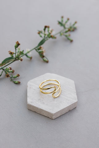 Meander Ring in Gold - Jewelry - WAR Chest Boutique
