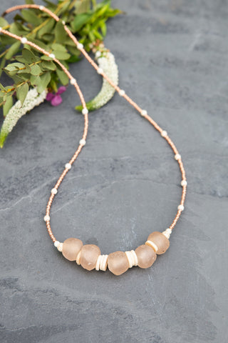 Jasmine Blush Necklace for Women - Jewelry - WAR Chest Boutique