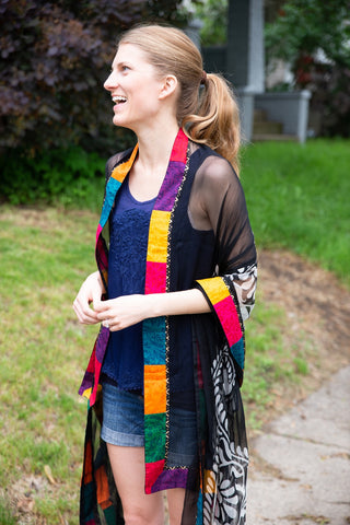 Patchwork Border Scarf