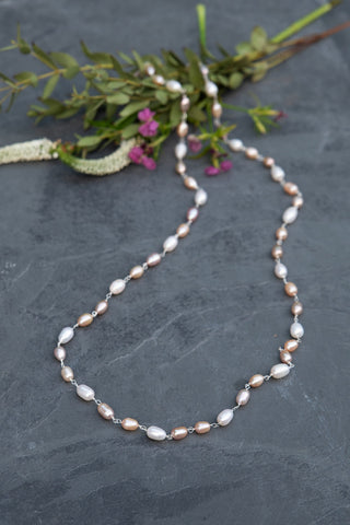 Summer Blush Pearl Necklace