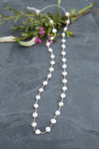 Pressed Pearl Necklace