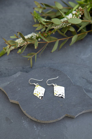 Diamond Hammered Earrings
