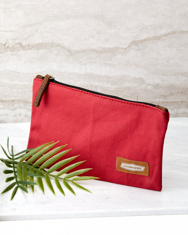 Red Canvas Utility Case