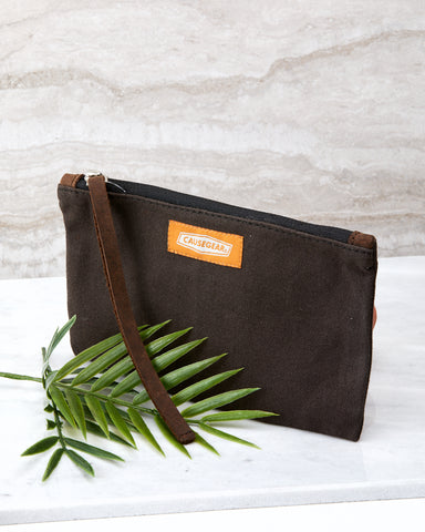 Charcoal Canvas Pencil Pouch