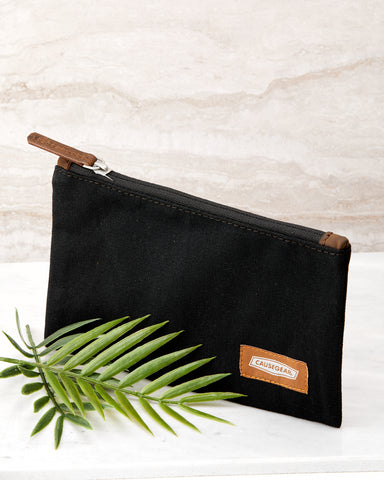 Black Canvas Pouch for Men and Women - Handbag - WAR Chest Boutique