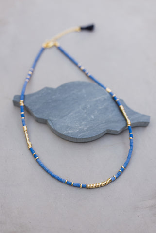 True Blue Rondelle Necklace for Women - Jewelry - WAR Chest Boutique