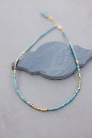 Teal Rondelle Necklace for Women - Jewelry - WAR Chest Boutique