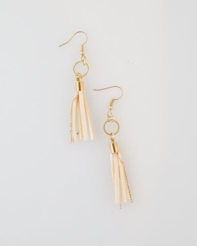 Vanilla Suede Earrings for Women - WAR Chest Boutique