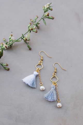 Split the Difference Tassel Earring for Women - Jewelry - WAR Chest Boutique
