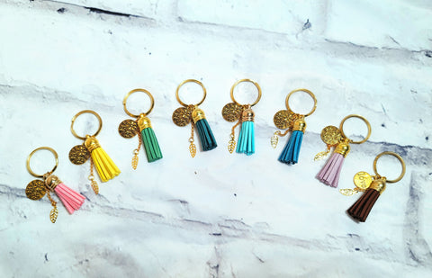 Sueded Tassel Keychain
