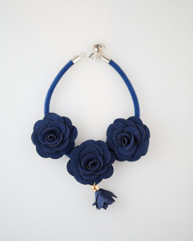 Royal Blue Roses Pet Collar for Cats and Dogs - WAR Chest Boutique