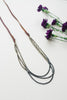 Ombre Crystal Leather Tie Necklace for Women - Jewelry - WAR chest Boutique