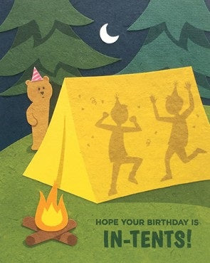 In-Tents Birthday Card - Stationary - WAR Chest Boutique