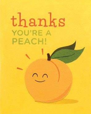 Thanks You're A Peach Card - Stationary - WAR Chest Boutique