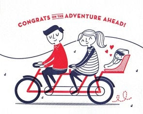 Baby Bicycle Congrats Card - Stationary - WAR Chest Boutique