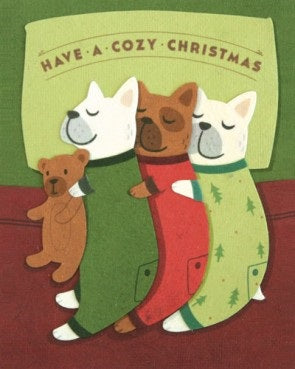 Cozy Dog Christmas Card - Stationary - WAR Chest Boutique