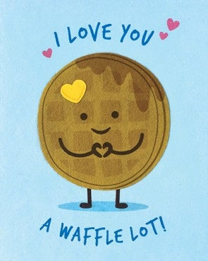 Waffle Love Card - Stationary - WAR Chest Boutique