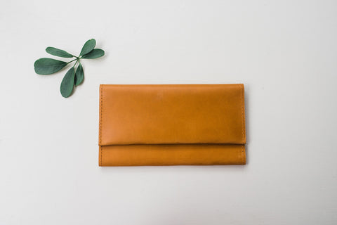 Cognac Debre Wallet for Women - Handbags - WAR Chest Boutique