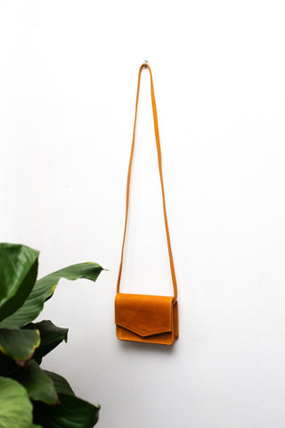 ABLE Cognac Mini Tigist Crossbody