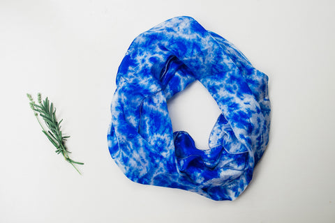Blue Sky Infinity Silk Scarf for Women - Accessories - WAR Chest Boutique