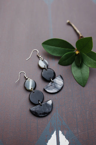 Black Geo Horn Earring for Women - Jewelry - WAR Chest Boutique